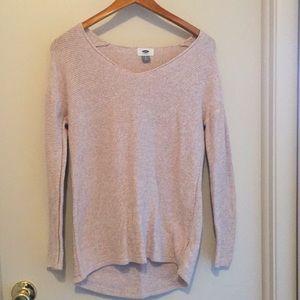 Cream colored long sweater